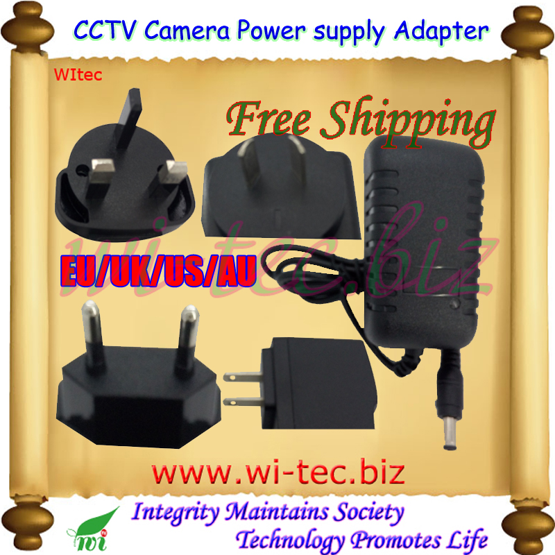 Гаджет  Security professional Converter EU/UK/US/AU Adapter for CCTV Camera Power Supply 12V 1A DC/Out, 100~240V AC/In Free Shipping None Безопасность и защита