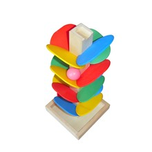 DIY Ball Run Track Game Toys Baby Wooden Colorful Tree Rolling Bead Children Kids Disassemble Assembling Educational Funny Toys(China (Mainland))