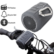 Designed for Cycling Sport Portable Bluetooth Speaker Waterproof Mini SPEAKER with Bicycle Bell/A Controller/Bike Mount/FM Radio(China (Mainland))