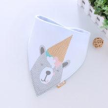 Bandana de algodón Babador de bebé babero de alimentación ropa de eructos de bebé de dibujos animados Toalla de Saliva accesorios para comer de bebé suave(China)