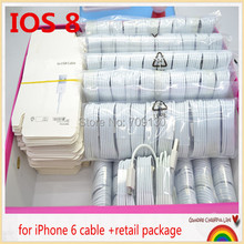 For IOS 9.3 100set(100pcs cable and 100pcs Retail packaging) /For iPhone6 6plus 5S 5C Cable,USB Charger Cable for iPhone5S 5C(China (Mainland))