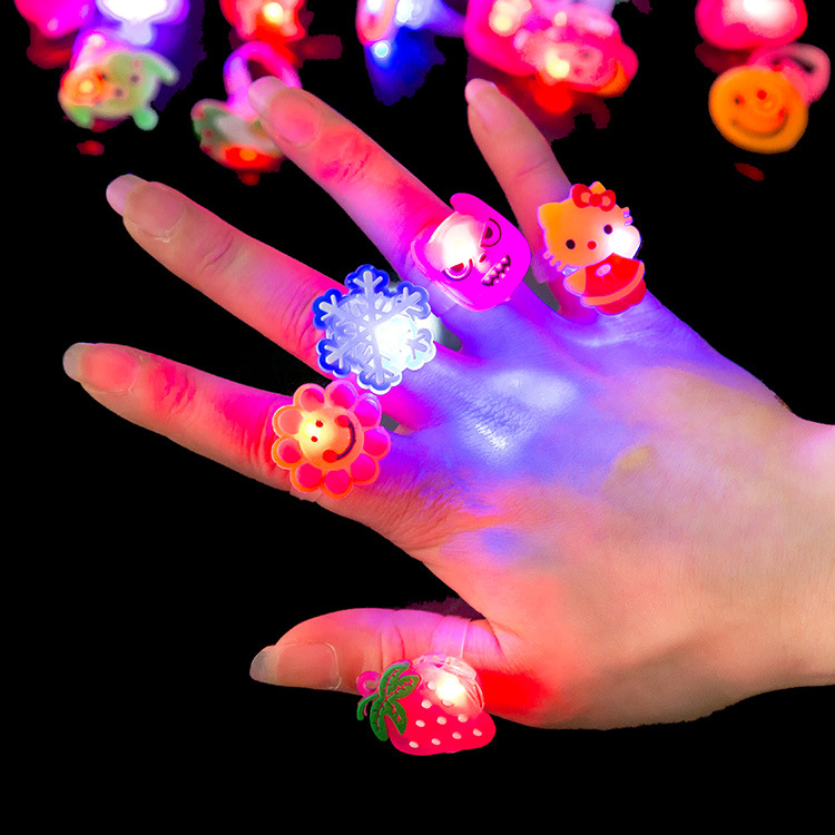 5PCS Cartoon Party Supplies Luminous Light Up LED Ring Creative Lighting Finger Rings Flashing Gift Toys Party Decor Accessories(China (Mainland))