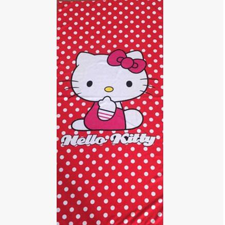 70*140CM Lovely Microfiber bath towels brand name Hello Kitty travel swim spa beach towel for kids adult baby bathroom Textile(China (Mainland))