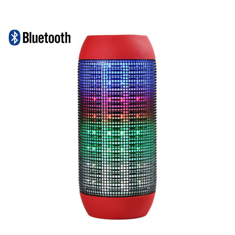 Bluetooth wireless Bluetooth stereo speaker emitting music portable speaker card free shipping LED flash can call(China (Mainland))