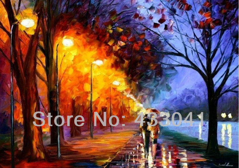 Paintings City Scenes Scene Oil Painting Canvas