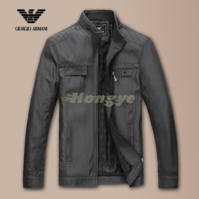 Brand Men's Jacket Autumn&Winter Overcoat Warm 2015 Stand Slim Casual Style Whole Sale manteau veste homme