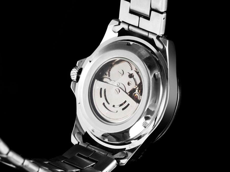 GOER марка мода мужская автоматические часы движение Досуг водонепроницаемый Мужчины смотреть Световой Скелет механический Человек наручные часы