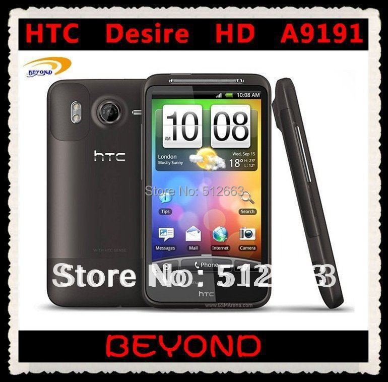 "100% Original HTC Desire HD A9191 Unlocked 3G GSM Android 4.3"" WIFI GPS 8MP G10 mobile phone dropshipping(China (Mainland))"