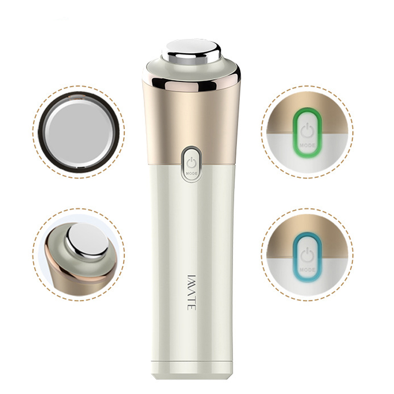 Ultrasonic Ion Introduction Instrument Micro-vibration Warm Massager V Face Care Home Use Beauty Equipment Face Skin Firming(China (Mainland))
