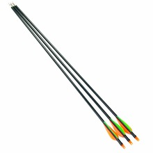 3pcs 30inch Fiberglass Arrows 30 80LBS with Orange Green Feather Hunter Nocks Hunting Target For Recurve