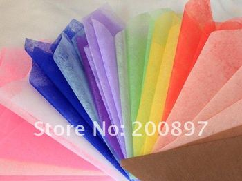 2015 Balde De Pipoca Floristry Solid Color Tissue Paper 50x50cm 90pcs Lot In 2 Colors Choice Flower Wrapping Packing Material