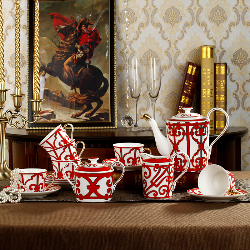 15 pieces high class bone china tea sets delicate ceramic Coffee cup and saucer Coffee mugs