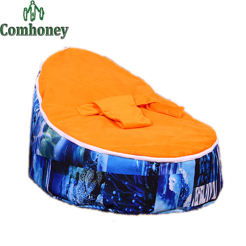 Baby Bean Bag Chair Bed Cover Without Filling Baby Care Infant Chair for Toddler Furniture Kid Lazy Sofa Chair Newborn Soft Bed(China (Mainland))