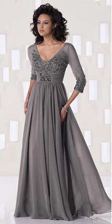 Popular Silver Grey Mother of The Bride Evening Dress-Buy Cheap ...