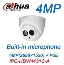 Dahua 4MP IP Camera PoE Built-in microphone IPC-HDW4431C-A IR security Dome Camera replace onvif HDW4421C -A cctv camera(China (Mainland))