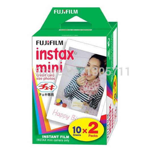 New 20 / box Fuji Fujifilm Instax Mini Film shoot Photo Paper for Instant Camera 7s 8 25 50s 50i 55i(China (Mainland))