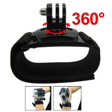 Gopro Accessories 360 Degrees Gopro Wrist Band Arm Shell Strap With Go pro Adapter Mount For Go Pro HD Hero3+ 3 2 Camera Case