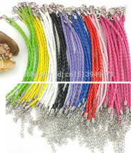 Buy HOT 50pcs Antique Silver Lobster Clasp Multicolor Genuine Leather Bracelets & Bangles Cords Charm DIY Jewelry A1 for $8.99 in AliExpress store