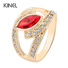 Buy Hot 2017 Top Fashion Red Crystal Ring Gold Color Punk Rock Crystal Rings Women Love Gift Kinel Vintage Jewelry for $1.39 in AliExpress store
