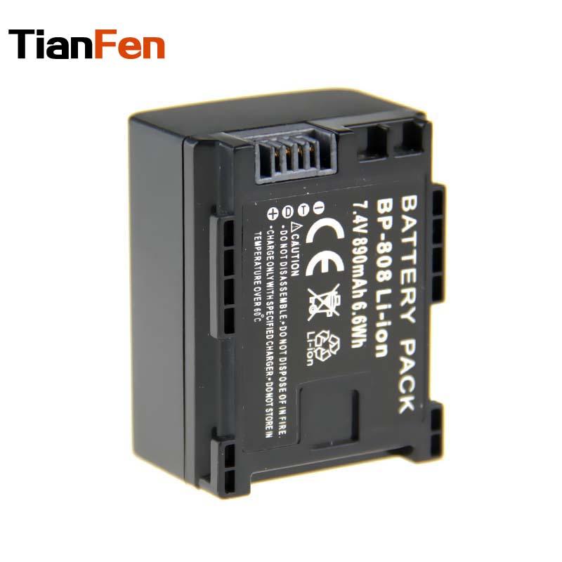 TianFen 1Pcs 7.4v 890mAh BP-808 BP 808 Batteries for Canon FS100 FS21 M31 M300 HF20 HF21 HFS11 HF11 BP-807 BP-809 BP-819 BP-827(China (Mainland))
