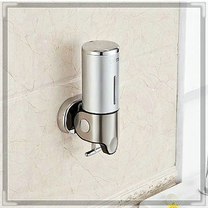 S-500ml New arrival Luxurious High Bathroom Accessories Stainless Steel304+plastic Soap dispenser,wall mounted bath sets tap bat(China (Mainland))