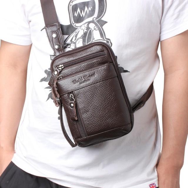 Мужские винтажный натуральная кожа мешок компактный плечо сумки для мужчины кроссбоди ...