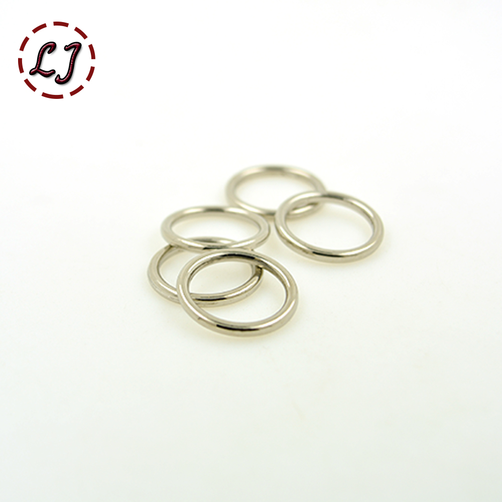 Small buckles for crafts - High Quality 20pcs Lot Inside Diameter 15mm Silver Small Circle Connection Alloy Metal Shoes Bags