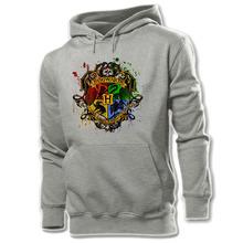 Harry Potter Hogwarts Retro Art Cotton Pattern Printed Hoodie Men's Boy's Graphic Sweatshirt Tops White Yellow Grey