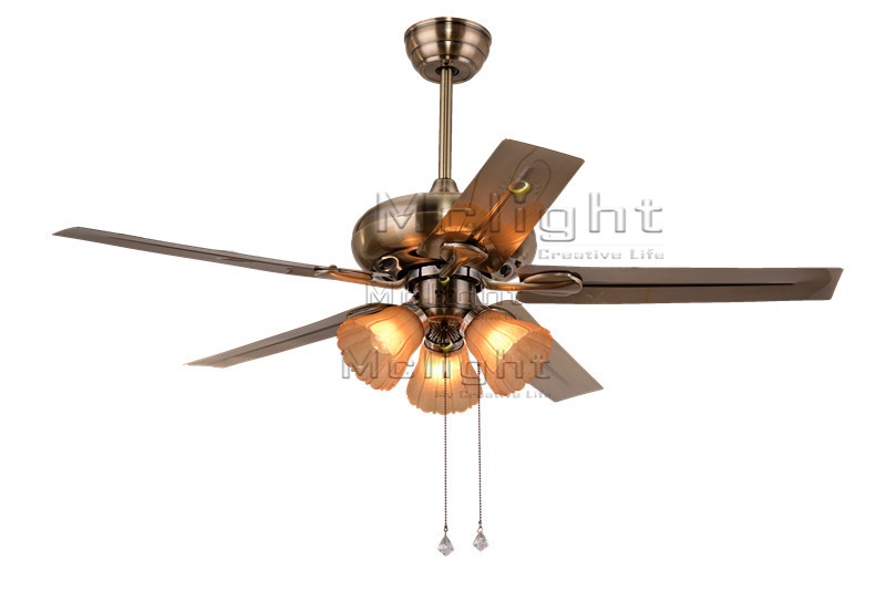 Modern Ceiling Fans With 3 Light Kits For Bed Room Coffee House Living Room Lamp 48 inch 5 Stainless Steel Blade Fixture<br><br>Aliexpress