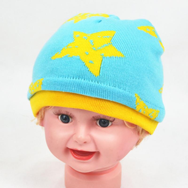 Manufacturers Selling Children Ice Cap Five-Star Hat Knitting Wool Cap Korean winter Hats(China (Mainland))