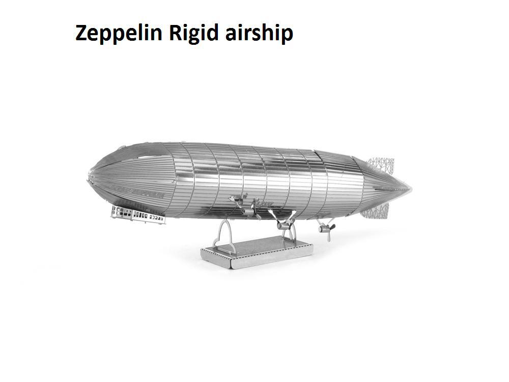 Zeppelin Rigid airship Building Kits 3D Scale Models DIY Metallic Nano Jigsaw Puzzle Toys for adult/kids, 1PC PRICE NO TOOL(China (Mainland))
