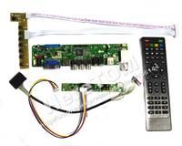VST29(HDMI+AV+VGA+TV ) LVDS Controller Board Kit For B101UAN02.1 1920*1200 + LVDS Cable + Inverter + Remote Control
