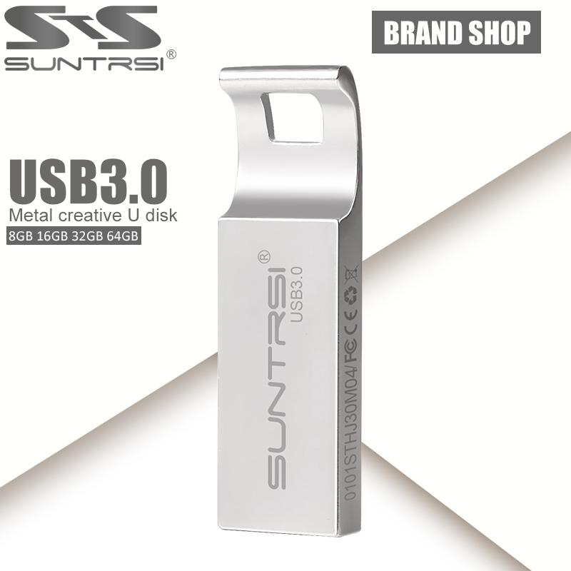 Suntrsi USB Flash Drive 64GB Metal USB 3.0 Pen Drive Customized Logo Pendrive USB Stick High Speed USB Flash 64GB Flash Drive(China (Mainland))