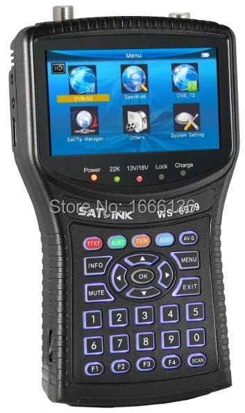 Original Satlink WS-6979 DVB-S2 & DVB-T2 Combo Meter digital satellite finder meter Spectrum analyzer constellation WS6979(China (Mainland))