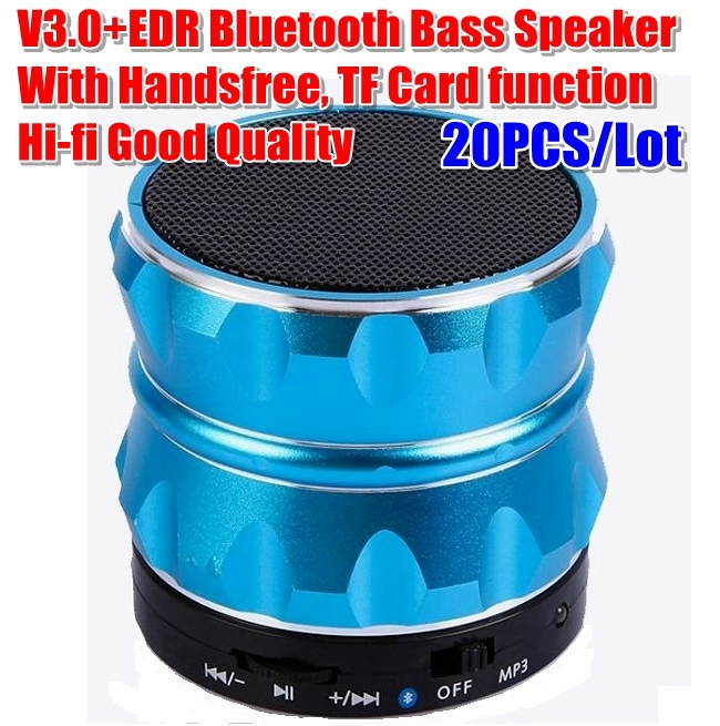 20PCS/Lot Best selling 2.4G Wireless Bluetooth V3.0+EDR Stereo Speaker TF Card For iPhone 5 S3 S4 Cell Phones Tablet PC BL-19(China (Mainland))