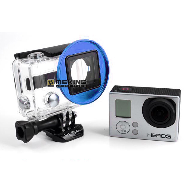 GoPro 58mm Lens Filter Adapter lens Ring Rig Cage Cover Mount For Go pro HD Hero 3 Blue<br><br>Aliexpress