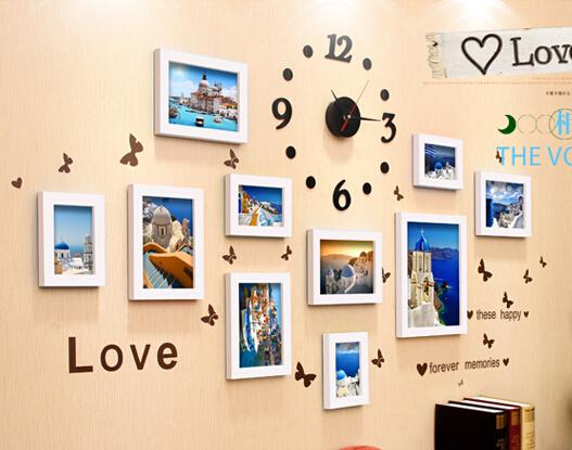 D006 11 фото стена фоторамка настенные часы стены стикеры