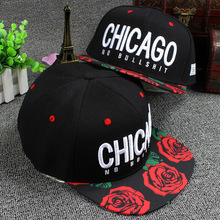 2015 Cayler Sons  Embroidery Letters Chicago The Rose Garden Brim Baseball Cap Hip Hop Caps Casual Snapback Hats For Men Women(China (Mainland))