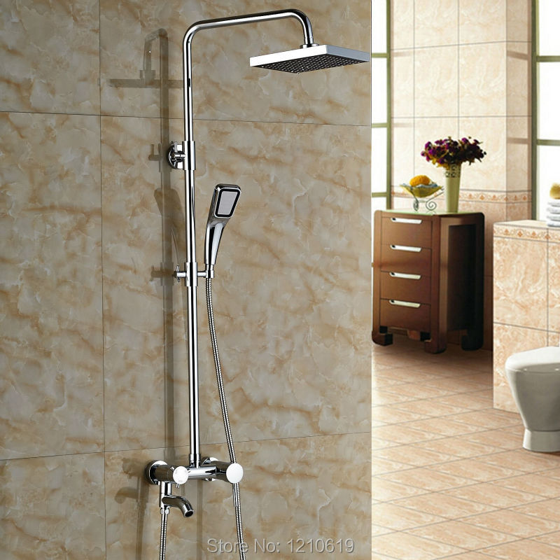 Newly Brass Shower Tub Faucet Chrome Finished 8