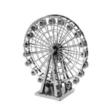 Колесо обозрения 3D Головоломки Из Нержавеющей Стали DIY Сборки Модели Здания Diy Развивающие Игрушки Головоломки Для Детей Brinquedos