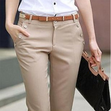 New 2013 Casual Women's Slim  OL occupation pants female trousers  big size overalls FREE SHIPPING W125