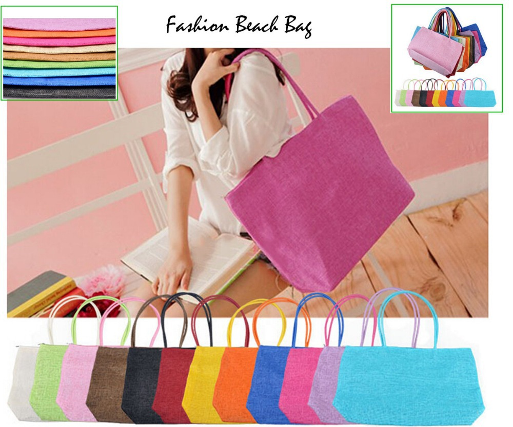 2015 Casual fashion women bag Beach Bags women Straw Summer Weave Woven Shoulder Tote Handbag shopping bag bolsas feminina(China (Mainland))
