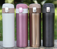 New Fashion 4 colors 500ml Stainless Steel Vacuum Cups Tea Coffee Water Bottles Insulated Thermos Cup Portable Travel Coffee Mug(China (Mainland))