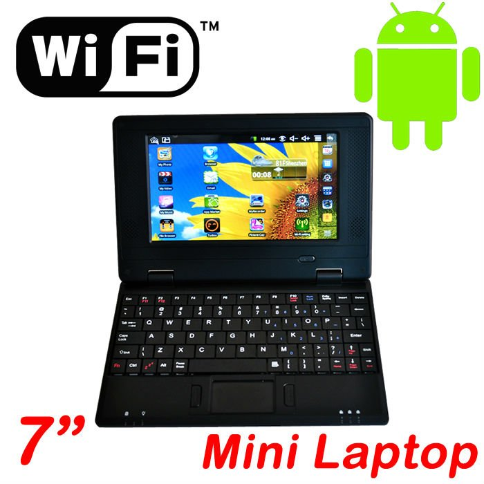 Wholesale 5Pcs/1lot 7 inch 4GB WIFI mini Laptop Notebook(Android 2.2 or Windows ce 6.0) Laptop(China (Mainland))