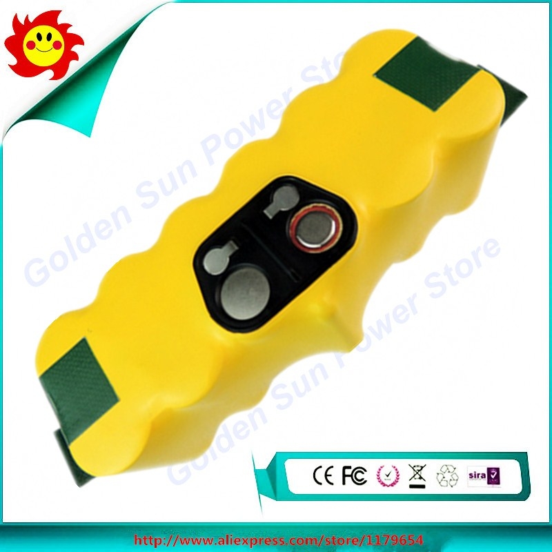 Free Shipping 14.4V 4000mAh/4.0Ah Ni-MH Battery for iRobot Roomba Vacuum Cleaner for 500 560 510 562 550 570 610 650 790 780(China (Mainland))