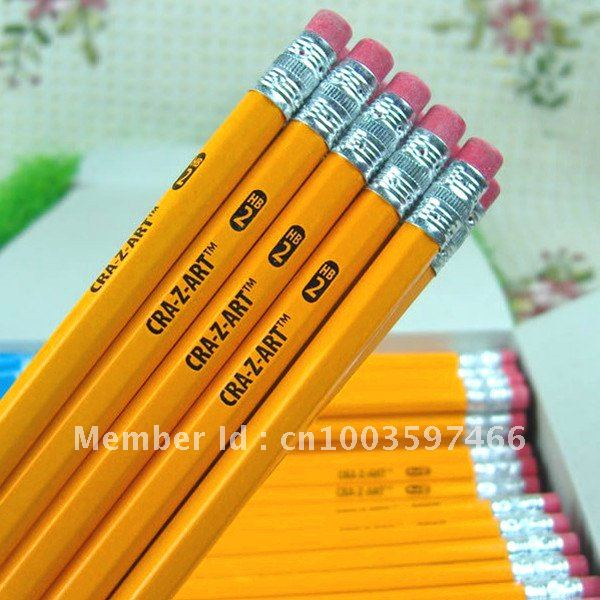 JJ01 Retail HB Standard Yellow Pencils Eraser School Office Hexagon Shape - Women Beauty Store store