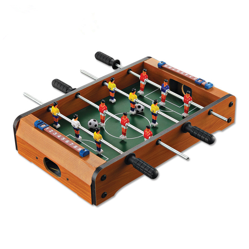 4 bars soccer table game wooden toys for kids childrens toy tabletop football set with 2