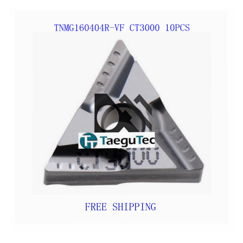 10pcs/lot TNMG160404R-VF CT3000 Carbide Inserts Taegutec free shipping(China (Mainland))