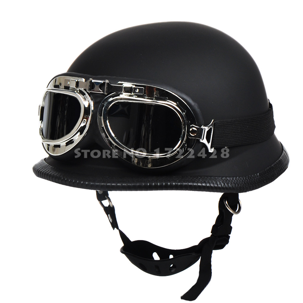 seconde guerre mondiale allemand style vintage moto casque capacete casco casque moto lunettes. Black Bedroom Furniture Sets. Home Design Ideas
