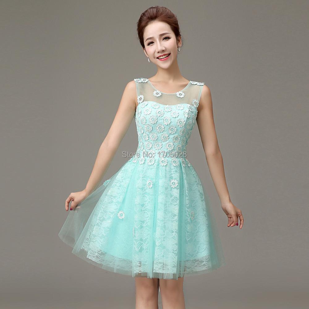 Powder blue dress cocktail dresses 2016 for Blue short wedding dress